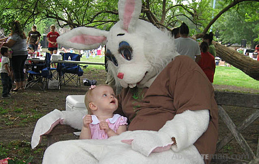 Annemarie Thomas and the Easter bunny