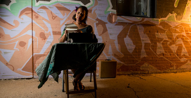 Fatima Hirsi, street poet: Photo by Danny Fulgencio