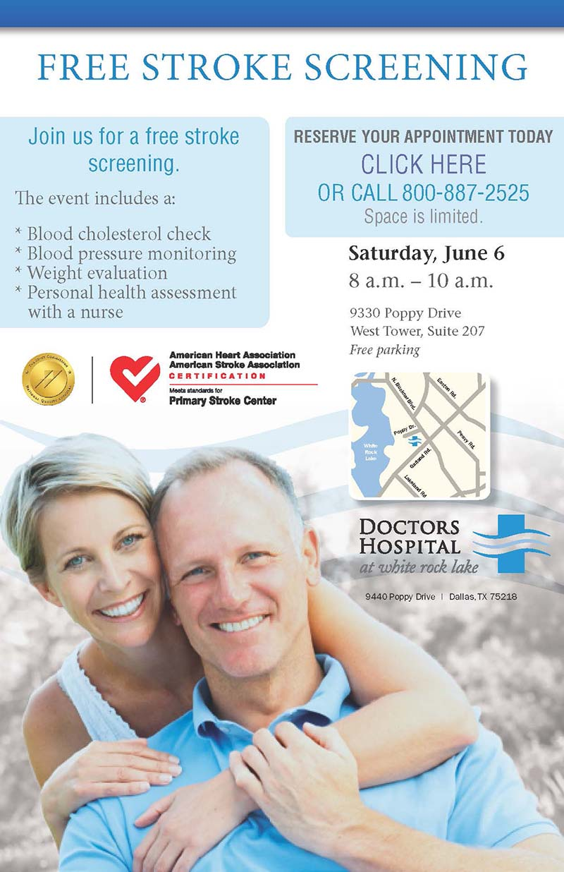 Sign up for a free stroke screening June 6