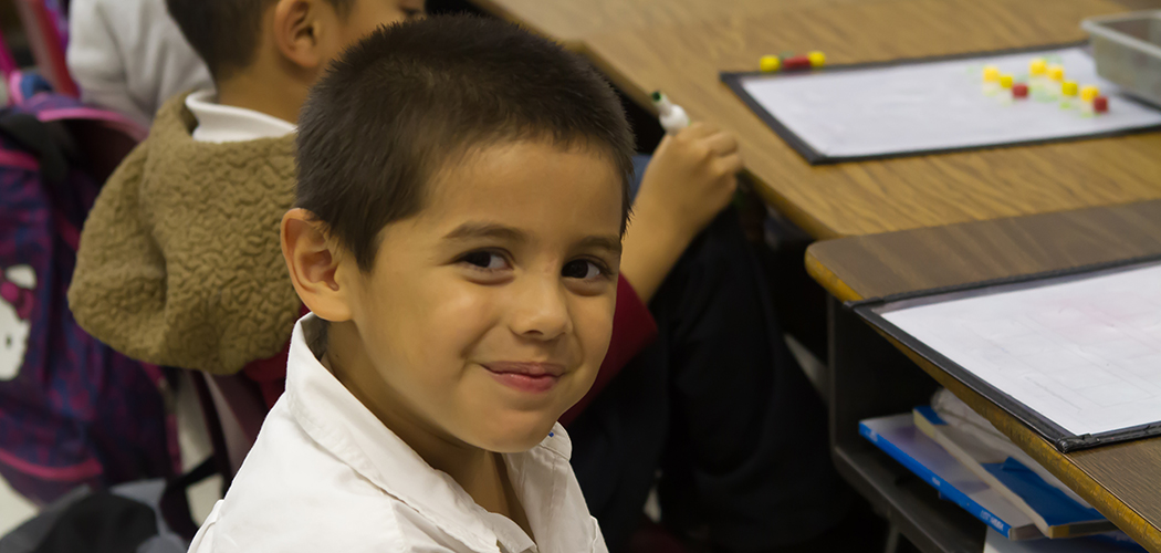 Smiles from a Rogers student: Photo courtesy of Dallas ISD