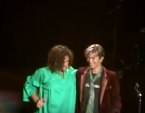Polyphonic Spree founder Tim DeLaughter with David Bowie. (YouTube)