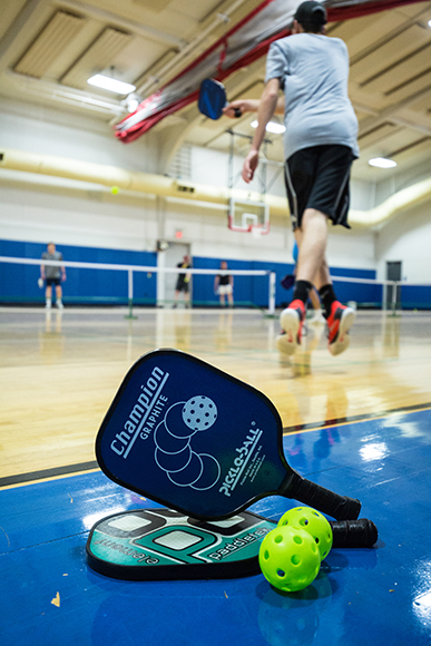 Pickleball paddles have evolved since the days when plywood was used. (Photos by Rasy Ran)