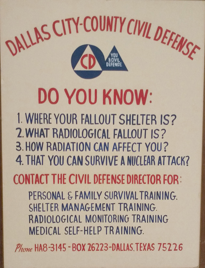 A Fair Park sign during the Cold War. (Courtesy of Dallas City Archives)