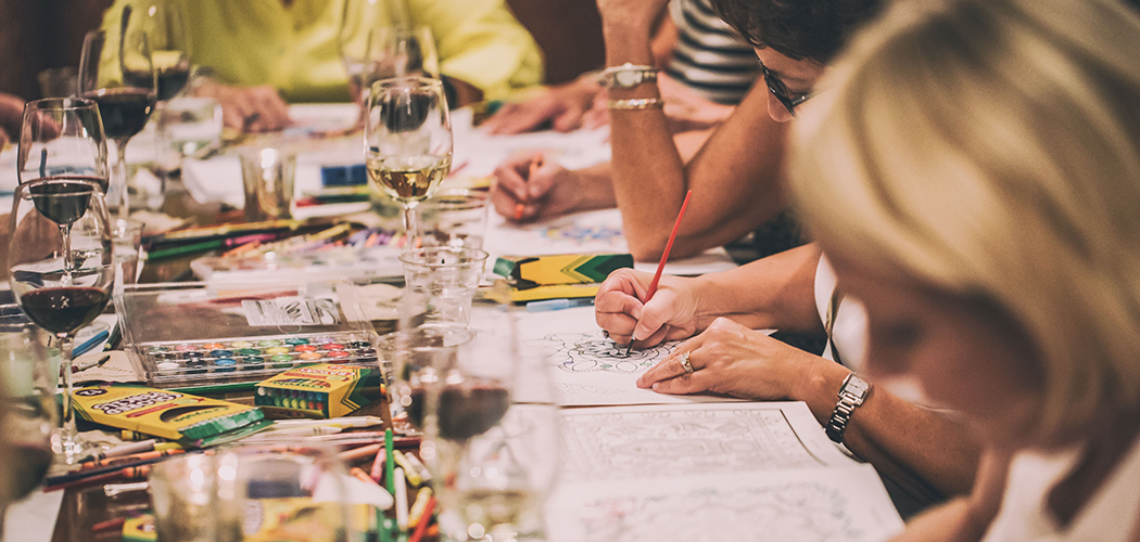 Creative Oasis Coloring Party