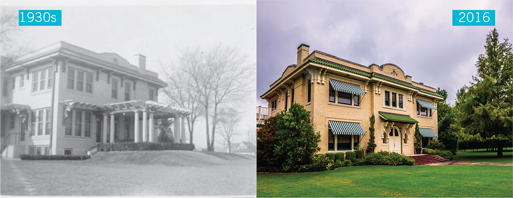 Parks Estate images from 1930s and today.