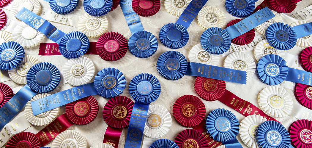 Betty McKnight has an overflowing box of state fair ribbons at home. (Photos by Danny Fulgencio)
