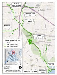 See a larger White Rock Creek Trail map at happytrailsdallas.com/trail-maps (Map courtesy of the City of Dallas)