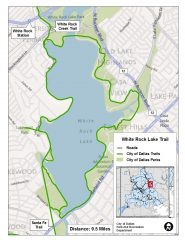 See a larger White Rock Lake Trail map at happytrailsdallas.com/trail-maps (Map courtesy of the City of Dallas)