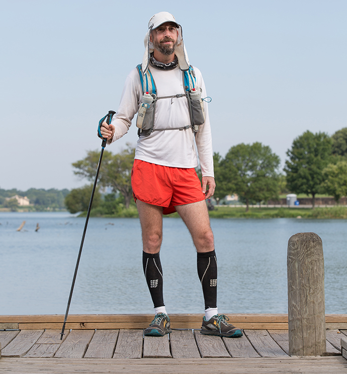 White Rock area resident Novle Rogers tackled an insane 314-mile race, and he isn't stopping. (Photo by Rasy Ran)