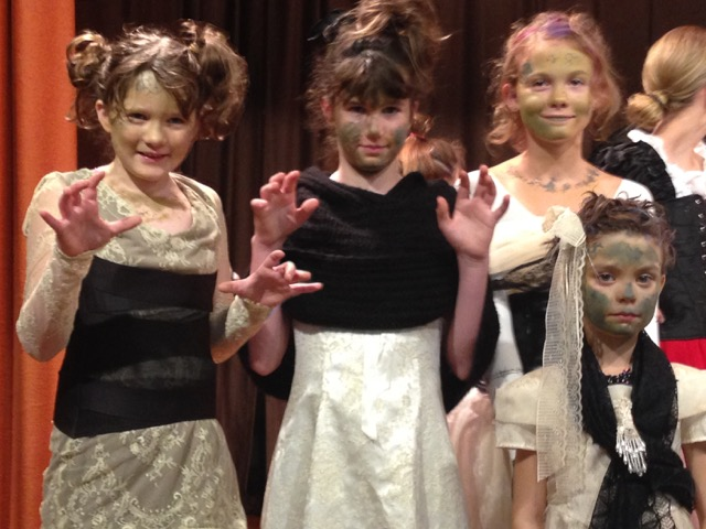 """The young performers of """"Frankenstein's Monster"""" of the White Rock Theater Project."""