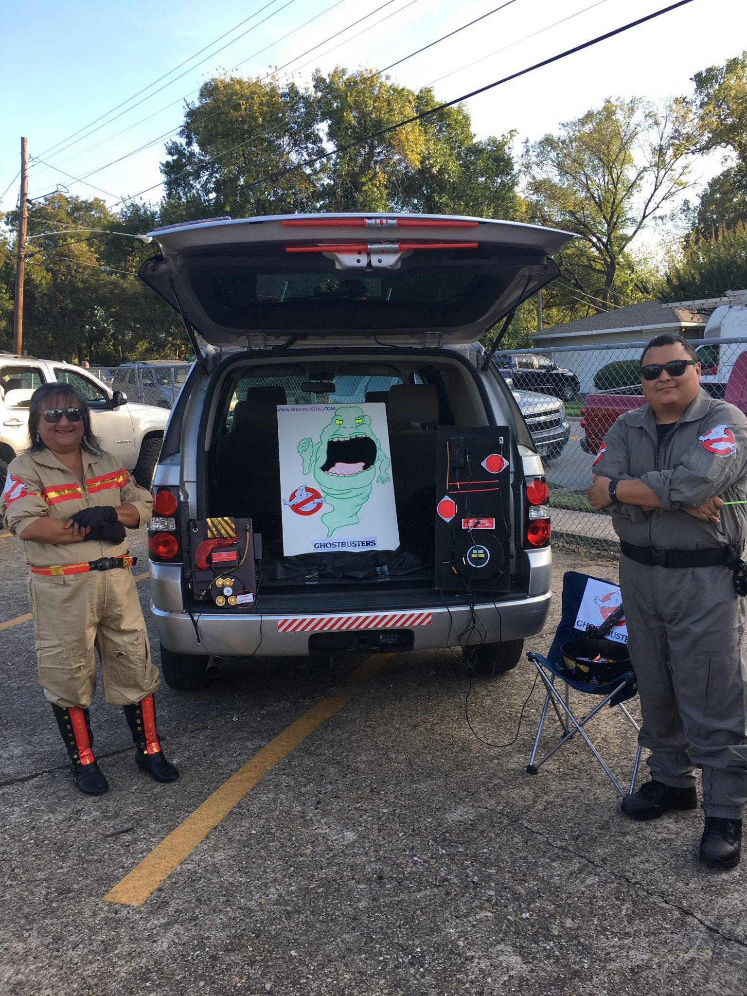 The Alex Sanger Elementary trunk-or-treat. Image courtesy of Principal Hector Martinez.