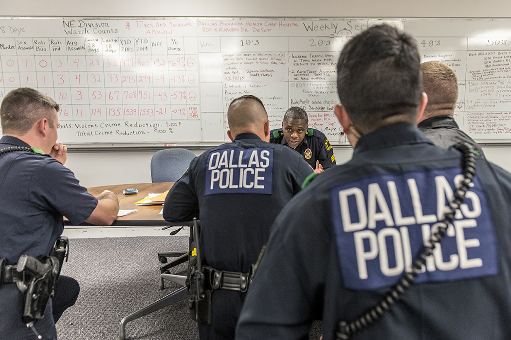 Inside the Dallas Police Northeast Substation on Northwest Highway. (Photo by Danny Fulgencio)
