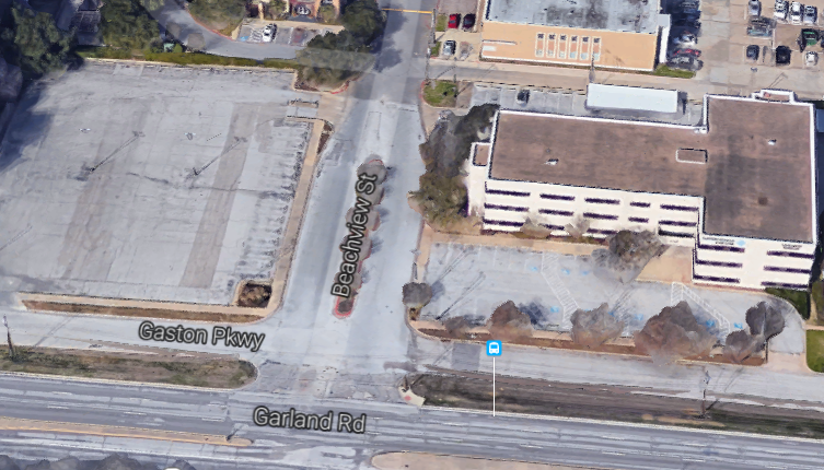 The parking lot on the left may soon be a restaurant with liquor sales, while the office building will soon be a Panera. (Photo from Google Maps)