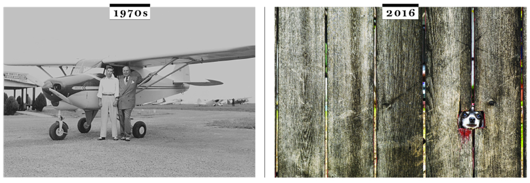 White Rock airport in 1970s and today its just a fence.