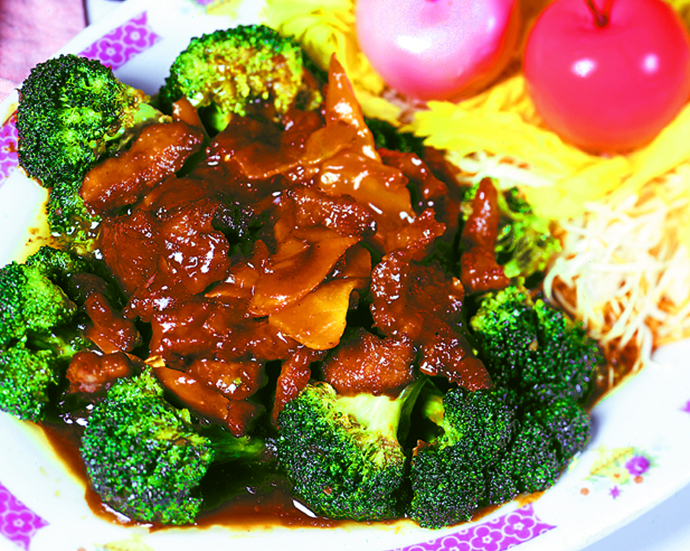 Panda Garden's Chinese beef and broccoli