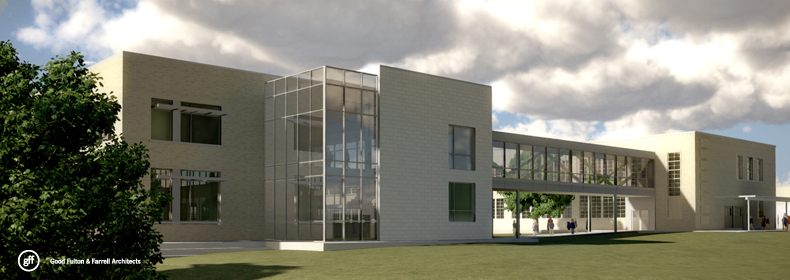 An architects rendering of the planned addition at Lakewood Elementary. (Photo courtesy of LEEF)