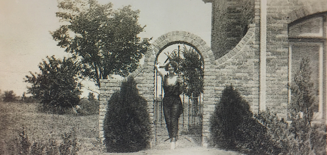 Most of the Dines-designed homes in the album did not include addresses or identifiers, as is the case with the photo of this woman. Photo courtesy of Preservation Dallas