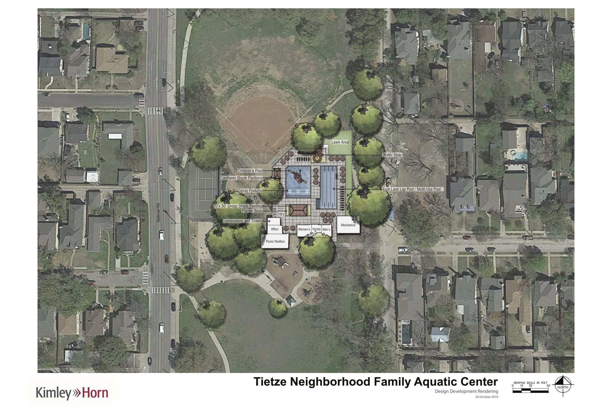 The final plans for Tietze Park pool. (City of Dallas)