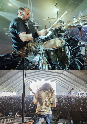 Wo Fat in concert at Hellfest Open Air in 2016. (Photo by Nerea Rey)