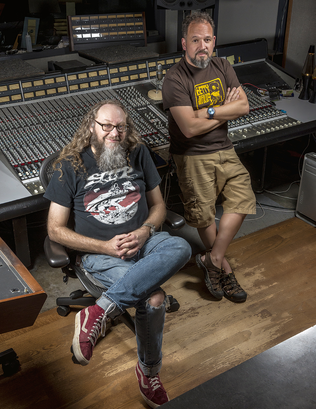 Kent Stump and Michael Walter run Crystal Clear Sound in addition to fronting Wo Fat. (Photo by Danny Fulgencio)