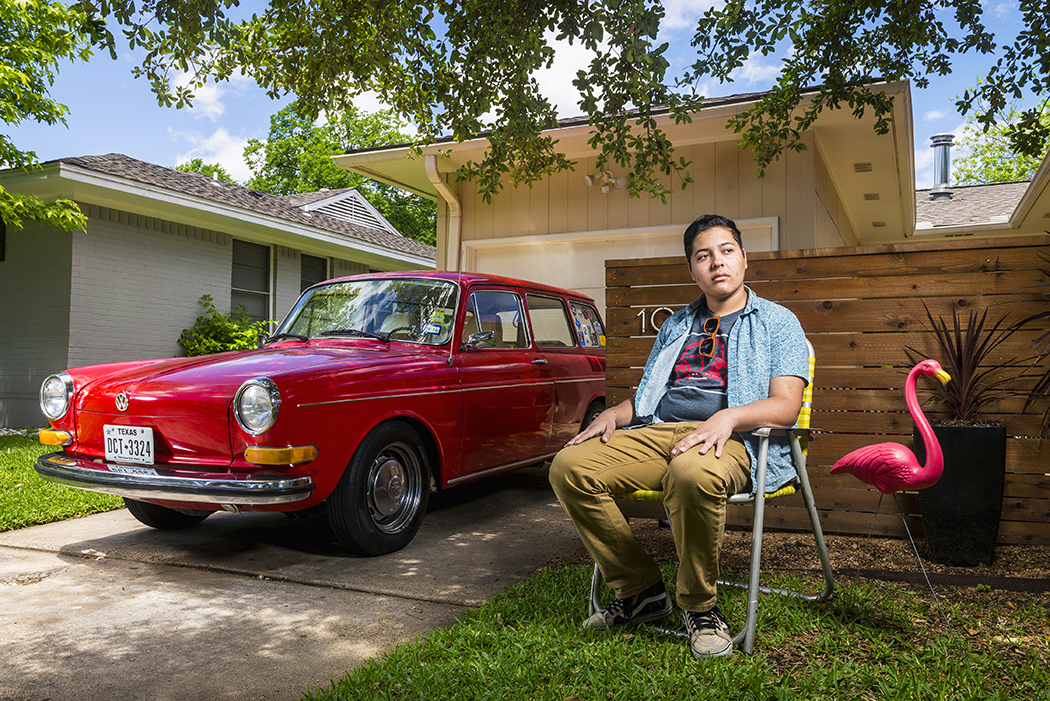 Ricky Estrada with his 1971 VW Type 3. (Photo by Danny Fulgencio)