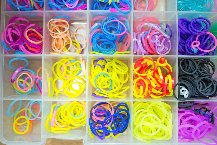 colourful rubber bands. Getty Images