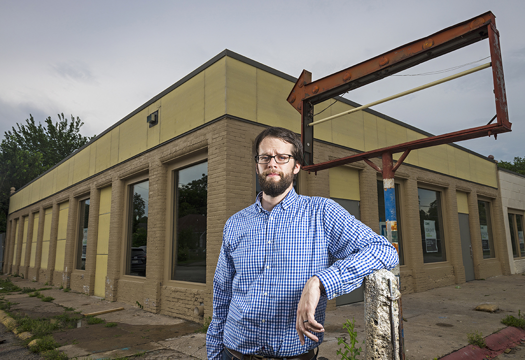 Nathaniel Barrett is developing in a way that maintains history in Old East Dallas. (Photo by Danny Fulgencio)