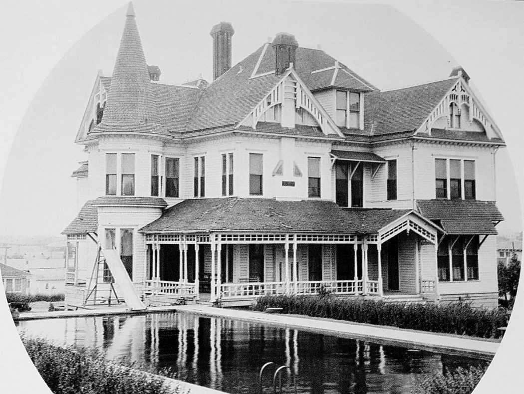 Caruth Farmhouse after it was taken over by the Hockaday School.