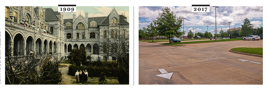 Left: SMU library Archives; Right: Photo by Danny Fulgencio