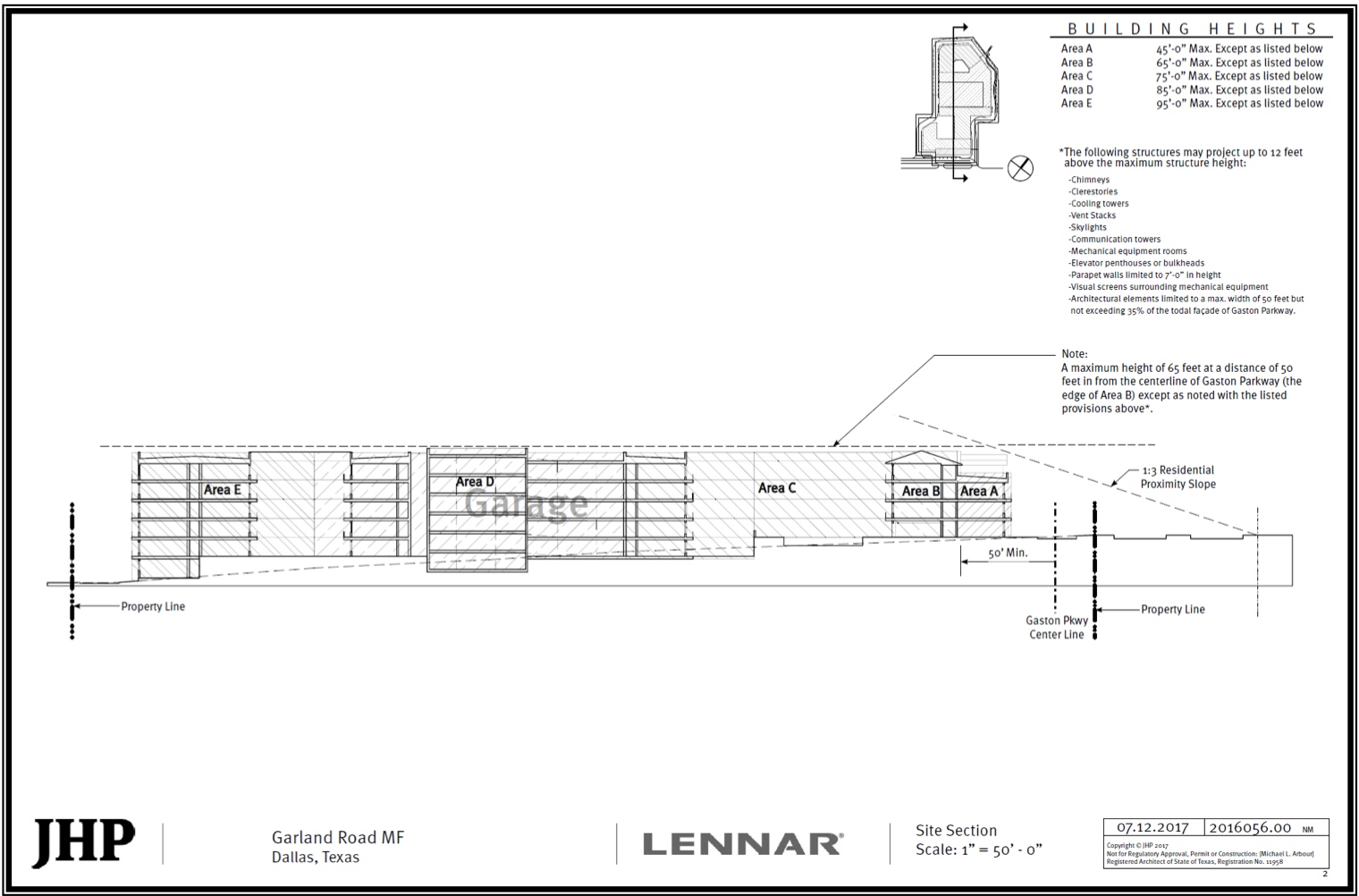 Lennar's proposed design for a 294-apartment complex on Garland Road.