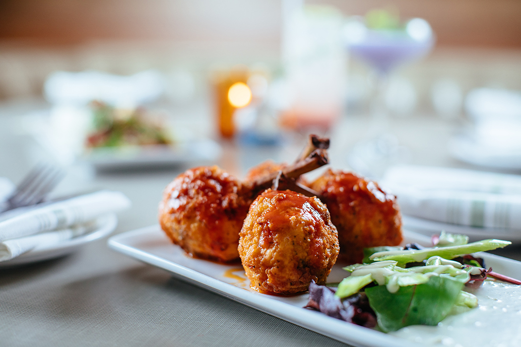 The fried-chicken confit. (Photo by Kathy Tran)