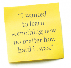 """I wanted to learn something new no matter how hard it was."" — Michael Nunez"