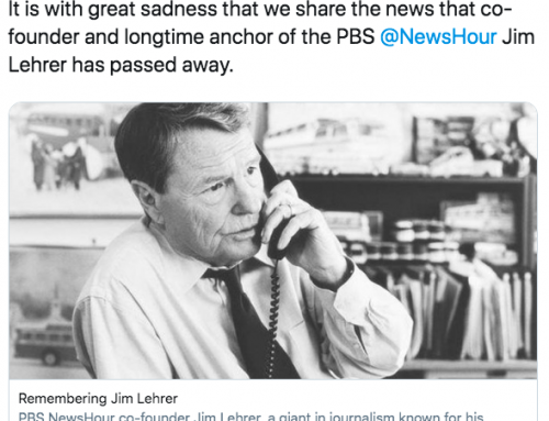 Former PBS anchor, Gaston Avenue neighbor Jim Lehrer dies