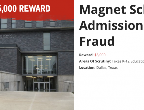 Make up to $5,000 for outing cheaters at Booker T. and other Dallas magnet schools