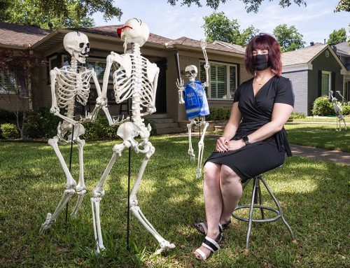 No bones about it: A neighbor's 'humerus' yard display turns heads during the pandemic