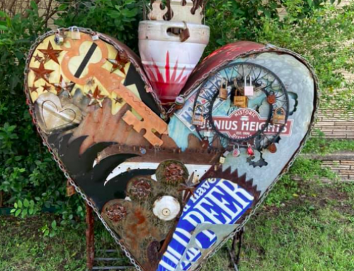 Junius Heights metal sculptor creates neighborhood art walk