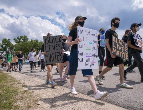 PHOTOS: Protesters remained peaceful as they marched near White Rock Lake