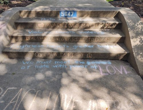 Chalk the walk: Neighbors share message of love during protests