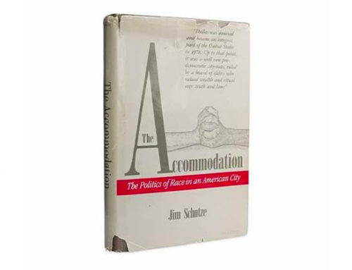 Jim Schutze's book 'The Accommodation' is being republished