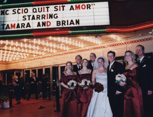 Love in the Lakewood Theater: Couple ties the knot in movie-themed wedding