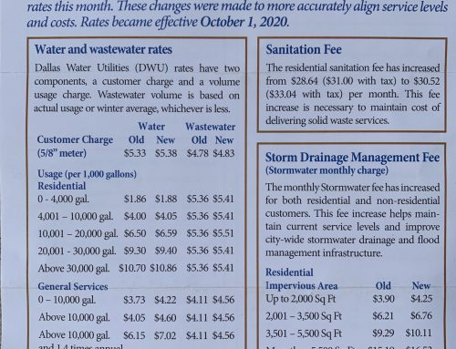 Water, sewer, garbage, stormwater fee increases begin this month