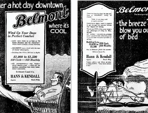 Flash back to the past with these vintage advertisements from our neighborhood