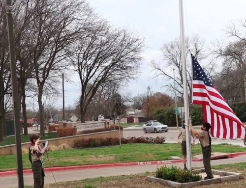 14-year-old Eagle Scout builds flagpole at Juliette Fowler