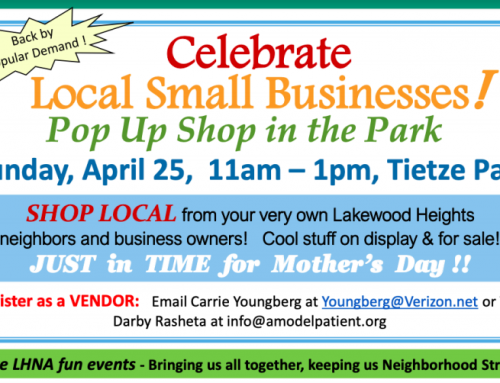 Outdoor pop-up market featuring local businesses to set up shop in Tietze Park