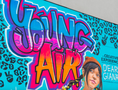 Nike teams with 11-year-old artist on Shops at Park Lane mural