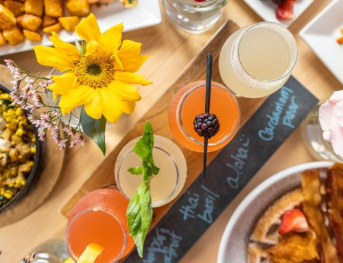Halcyon has 10 flavors to mix up the traditional mimosa