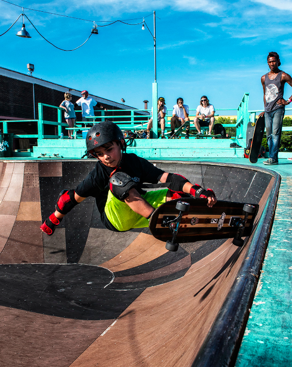 Skaters of all ages — under 10, over 60 and every age in between — showed up for the final session at Guapo. Photo by Danny Fulgencio.